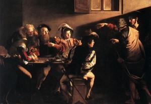 Caravaggio - La vocazione di S. Matteo