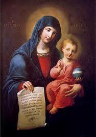 Icona Madonna della Lettera
