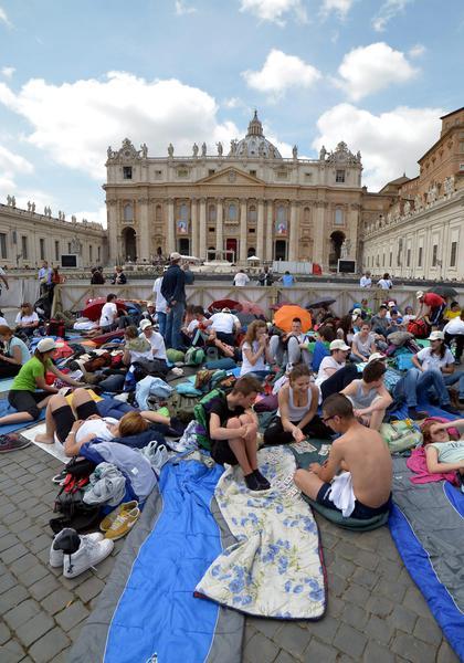 Waiting for canonization of John Paul II and John XXIII